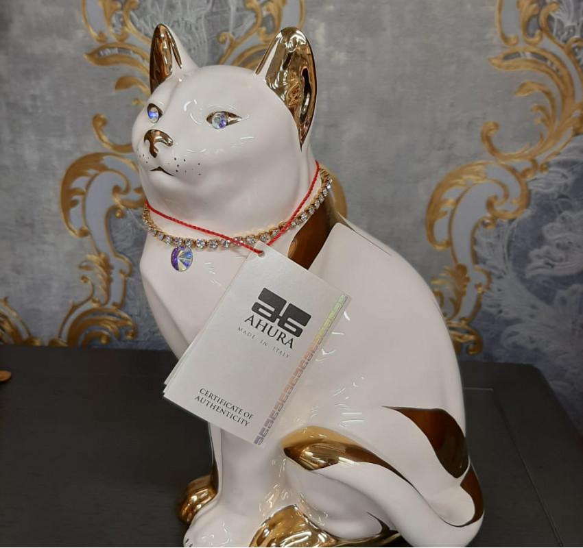 Декор Кошка золото/ Ahura