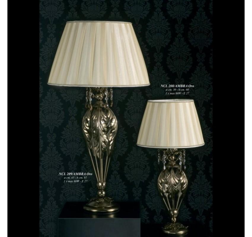 Настольная лампа Jago Versailles NCL 208/AMBRA Oro